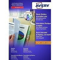 AVERY - Double pochettes intercalaires à onglets personnalisables et imprimables, 12 touches, Format A4+ (permet de…