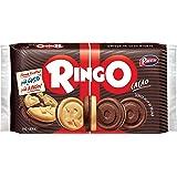 Pavesi Ringo Biscotti Farciti con Crema al Gusto Cacao per Colazione o Gustoso Snack, Senza Olio di Palma, Formato Famiglia,