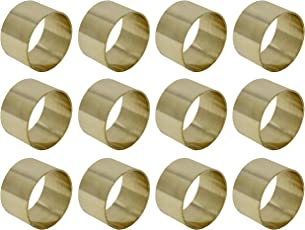 SKAVIJ Brass Napkin Rings Round for Weddings Dinner Parties or Every Day Use