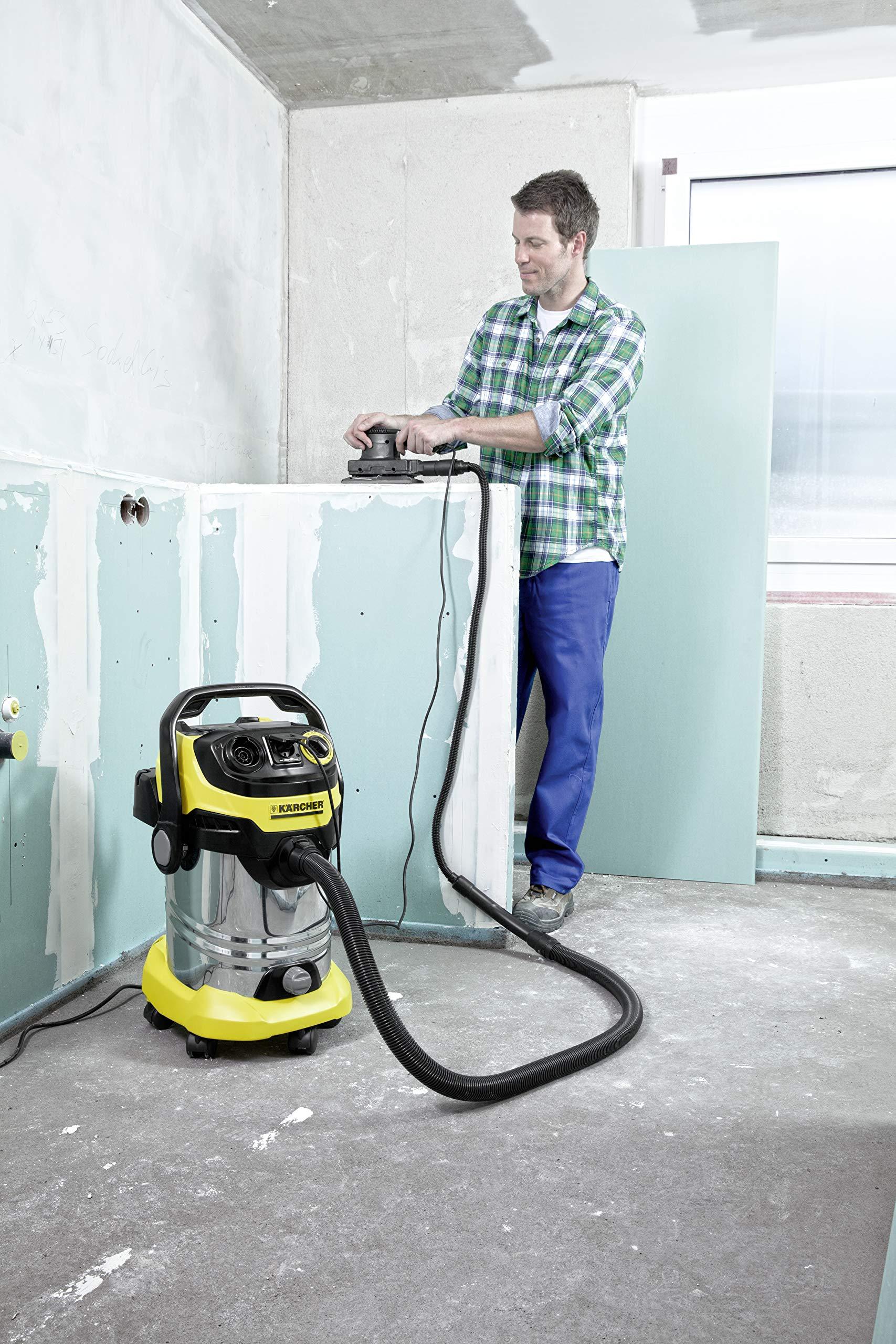 Krcher-WD-6-P-Premium-Aspiratore-Solidi-Liquidi-Capacit-30-l-260-Air-Watt-1300-W-con-Presa-Elettroutensile-Due-Tubi-Rigidi-dAspirazione-2-Bocchette-Filtro-Sacchetto-Tubo-22-m
