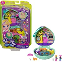 Polly Pocket Coffret Univers Café du Hérisson, mini-figurines Polly, une amie, chat et lapin, surprises incluses, jouet…