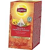 Lipton Exclusive Selection Thé Pêche Et Mangue, Label Rainforest Alliance, 25 Sachets