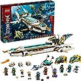 LEGO 71756 Ninjago L'Hydro Bounty –sous-Marin avec Mini Figurines Kai et NYA, Jouet Ninja pour Enfants 9 Ans et Plus