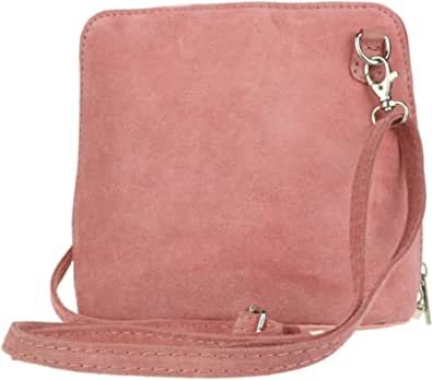 Girly HandBags - Borsa a tracolla in vera pelle scamosciata con stampa animale leopardato