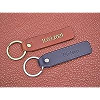 Porte-clés long en cuir personnalisé, cadeau parfait avec monogramme fait à la main en France