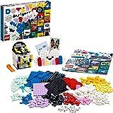 LEGO 41938 DOTS Boîte de Loisirs Créatifs, Tuiles Décoratives, avec Pot a Crayon, Organisateur de Bureau, Cadre et Panneau de