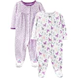 Simple Joys by Carter's 2-Pack Cotton Footed Sleep And Play Bimba 0-24, Pacco da 2