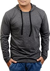 Fenoix Men's Cotton Hooded Full Sleeve T-Shirt