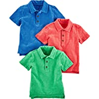 Simple Joys by Carter's Toddler Lot de 3 polo à manches courtes pour garçon