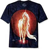 The Mountain Last Unicorn Camiseta Mujer Azul, Corte Normal