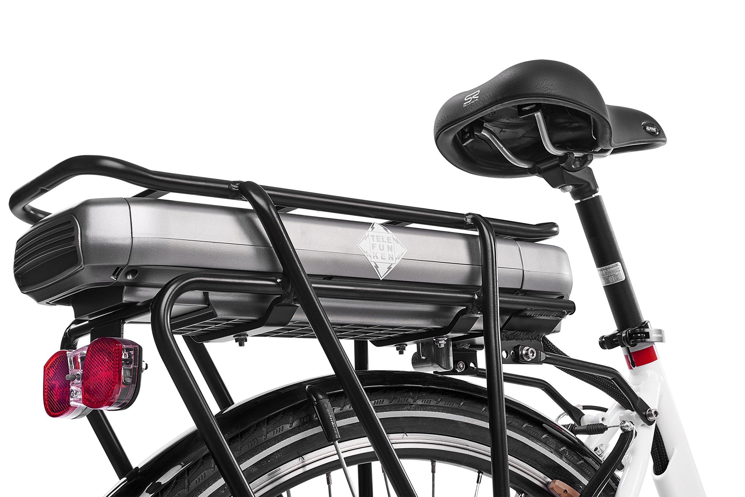 Telefunken E Bike Elektrofahrrad Alu, mit 7 Gang Shimano
