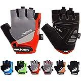 meteor Fietshandschoenen Halve Vinger Handschoenen - Halve Vingers voor Dames en Heren en Jeugd - Sporthandschoenen Gel MTB M