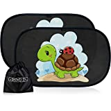 Tendine parasole auto per bambini e neonati - Parasole bambini accessori auto - Protezione ottimale raggi UV 80g/m²- 2 pezzi