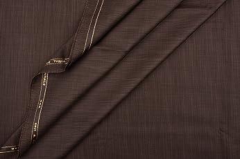 Vimal Brown Premium Men's Unstitched Trouser Fabric - 1.2 Meters & 1.3 Meters , Trouser Fabric For Men