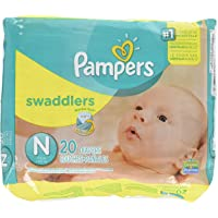 Pampers Swaddlers Diapers for Newborn, 10lb (Multicolour, Pam-3529)-Pack of 20