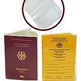Passfodral varianter, transparent, 2. Reisepass bis 02/2017 & Impfpasshülle ab 2008,