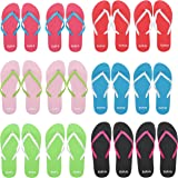 BELLE VOUS Wholesale Flip Flops For Men, Women and Children (12 Pairs) - 6 Colours - 4 Sizes - Small, Medium, Large and Extra