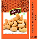 Ancy Foods Premium Dry Fruits (Cashew Roasted & Salted 1kg)(Pack of 4x250g)