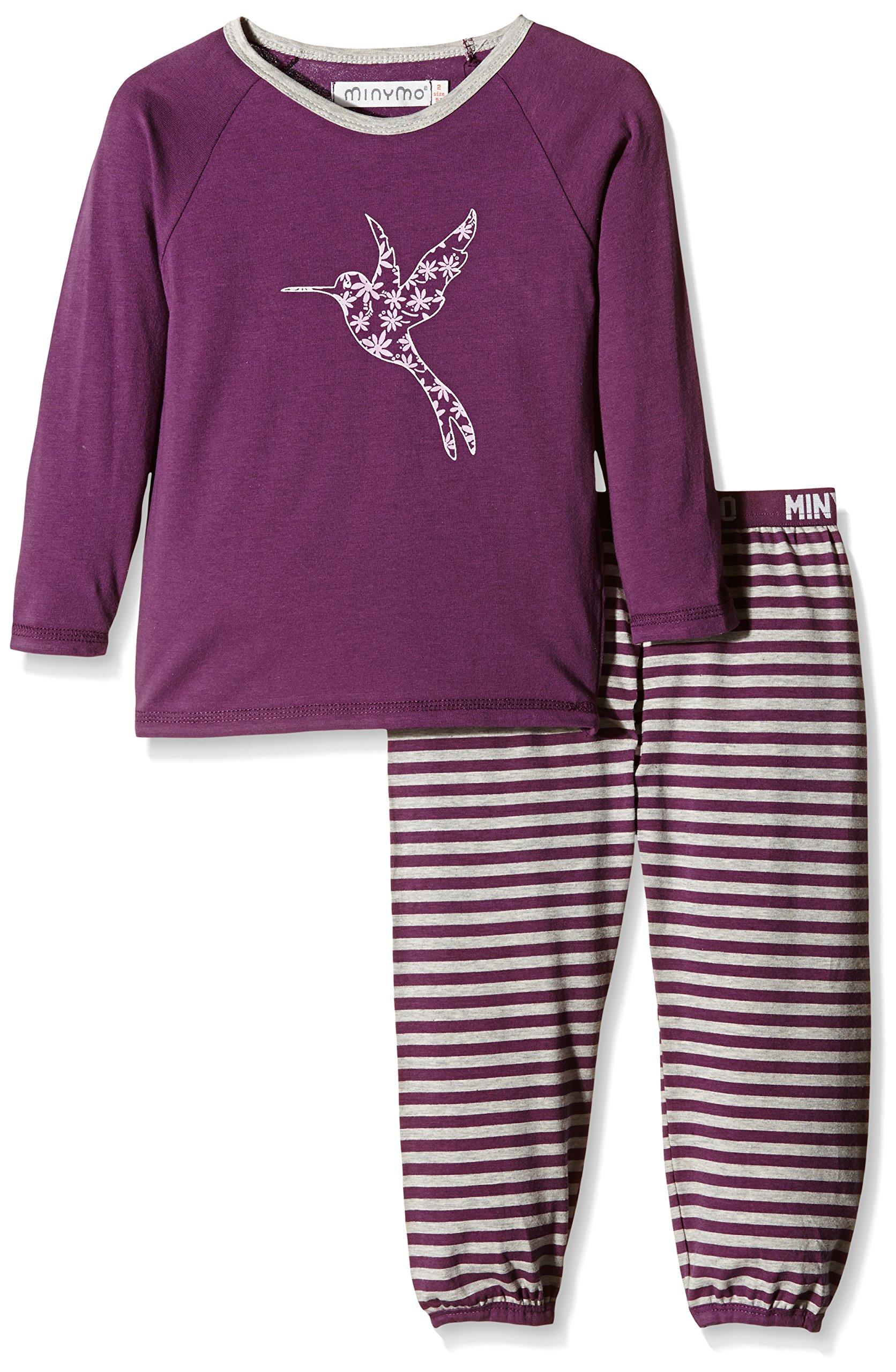 Minymo Chen 68-Pyjamas-Striped Pant, Pigiama Bambina, Purple Passion, 18-24 Mesi
