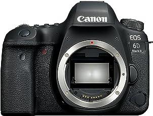 Canon   1897C003AA EOS 6D Mark II SLR-Digitalkamera (26,2 Megapixel, 7,7 cm (3 Zoll) Display, DIGIC 7, mit WLAN/NFC/Bluetooth und GPS) nur Gehäuse schwarz