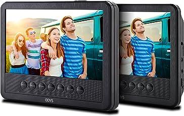 Odys Seal 7 Pro tragbarer DVD-Player (mit zusätzlichem drehbarem Bildschirm, (17,8 cm (7 Zoll) Digitales Panel, USB) Autopaket, Fernbedienung, Schwarz