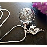 Regalo di Natale Angelo Tarassaco Collana Catena in argento sterling Pacco regalo ciondolo a stella gioielli di simpatia…
