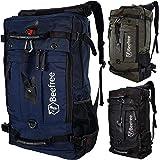 Mochila antirrobo 3 en 1 de 50 litros, mochila de trekking al aire libre, mochila de viaje multifuncional impermeable para tr