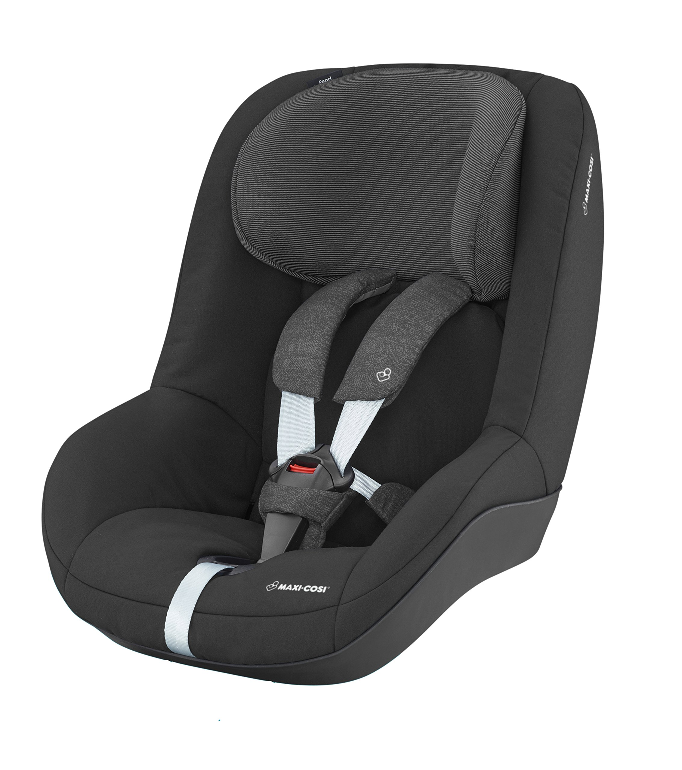 Maxi-Cosi Pearl Toddler Car Seat Group 1, ISOFIX Car Seat, Compact, , 9 Months - 4 Years, 9-18 kg, Nomad Black Maxi-Cosi Interactive visual and audible feedback when the pearl is correctly installed with the maxi-cosi family fix base in the car Spring-loaded, stay open harness to make buckling up your toddler easier as the harness stays out of the way Simultaneous harness & headrest adjustment can be operated with one-hand 2