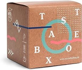 Taste-Box mycoffeebag mit allen Sorten | Premium Filter Kaffee der schmeckt | Geschenke Box mit 13 Coffeebags aus 100% Arabica Bohnen | schonendste Handröstung