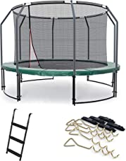 Ampel 24 Outdoor Trampolin Ø 305 cm, 366 cm, 430 cm oder 490 cm mit verstärktem Netz, Leiter und Windsicherung, Verschiedene Ausführungen