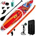 FEATH-R-LITE Inflatable Stand Up Paddle Board 10'/11'6'' Ultra-Light SUP with Inflatable Paddleboard Accessories,Three Fins,A