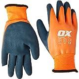 OX OX-S483909 Thermal Latex Work Gloves – Waterproof Safety Gloves – Freezer Gloves – Gardening Gloves – Orange/Blue, Size –