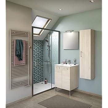 Experts du bain, Meuble de rangement salle de bain sur pieds, bois ...