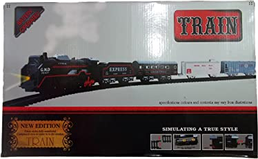 Kotak Sales Enjoy Simulating Small Classic Kids Toy Train 19 Piece Set Battery Operated True Style