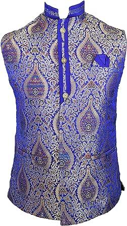 Men's Indian Jacquard Waist Coat Nehru Jacket Modi Jacket MJ1080