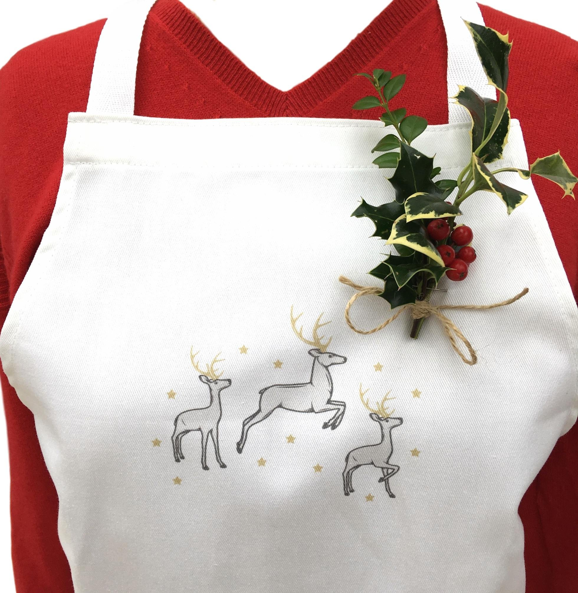 Clara Home and Gardens Store Christmas Reindeer Apron