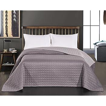 Creme Braun DecoKing 29695/Couvre-lit Double Face en Polyester Cr/ème Marron cr/ème 170 x 210 cm Polyester