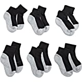 Jefferies Socks Boys' Seamless Quarter-Height Half Cushion Socks (Pack of 6)