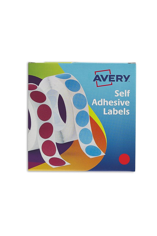 Avery 24-506 Self Adhesive Circle Label Dispenser (19 mm Dia, 1120 ...