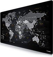 CSL - Übergröße DEUTSCHES Layout Mauspad 1200x600mm Weltkarte - XXXL Mousepad groß mit Motiv - Tischunterlage Large Size - X