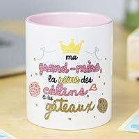 Nos pensées - Tasse Phrases et Dessins Amusants (Ma Grand-mère: la Reine des câlins et des gâteaux) Cadeau Original pour…