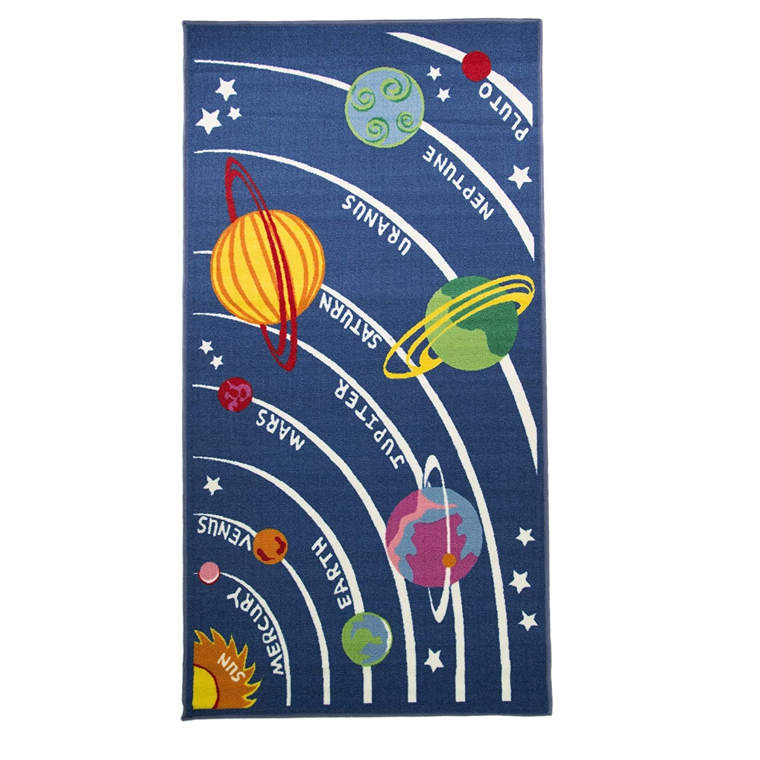 Flair Rugs Matrix Kiddy Planets Rug Multi 80 X 120 Cm Amazoncouk Kitchen Home
