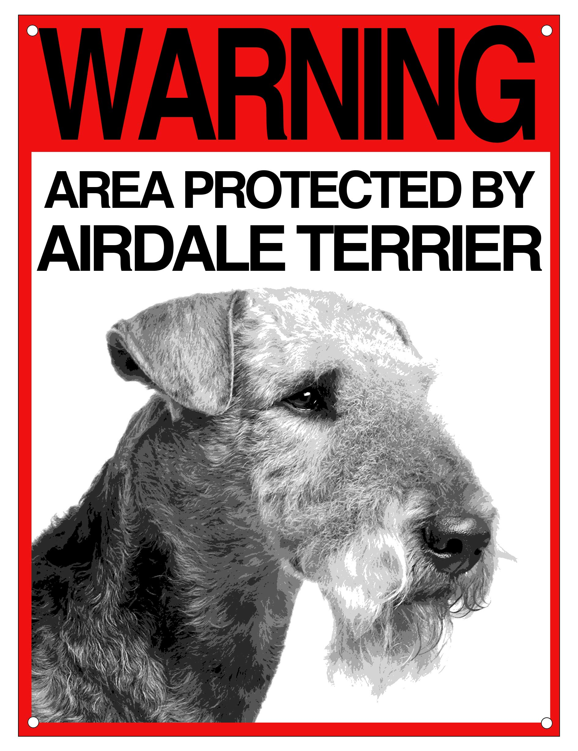 Lovelytiles AIRDALE Terrier Warning Area Protected By Dog Sign