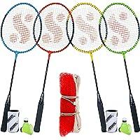 Silver's SB-100 Combo-9 (4 B/Rackets + 4 Pcs Plastic Shuttle + 1pc. Badminton Net Nylon),