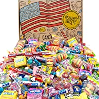 Heavenly Sweets American Candy Party Gift Box - 120 pieces Classic American Sweets - Laffy-Taffy, Twizzlers, Nerds…