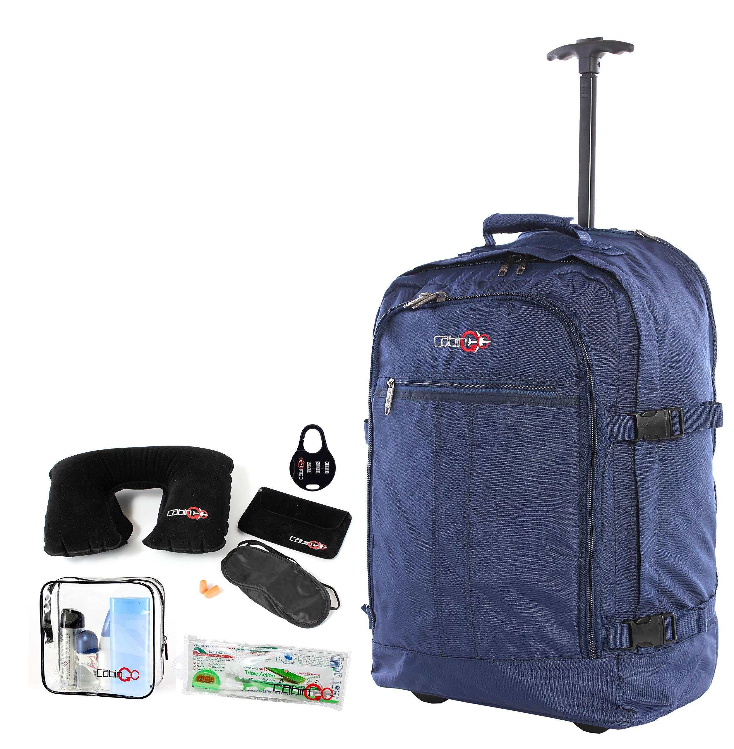 scarpe sportive 248af 3efa5 CABIN GO cod. MAX 55 trolley – Zaino bagaglio a mano/cabina da viaggio  leggero. – 55 x 40 x 20 cm, 44 litri – con ruote. Approvato volo ...
