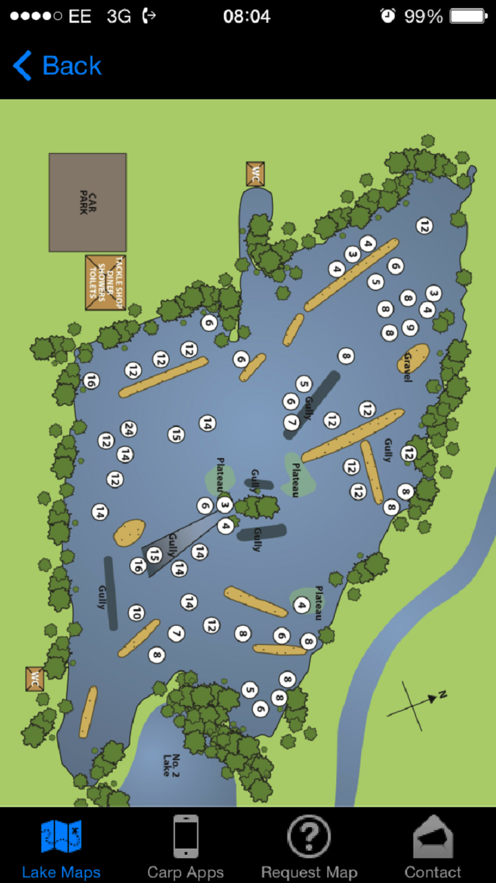 orchid lake feature map Carp Lake Maps Amazon Co Uk Appstore For Android orchid lake feature map