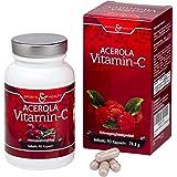Acerola Vitamin C - natürliches Vitamin C - 90 Vegane Kapseln - 3 Monatsvorrat - Ohne Magnesiumstearat