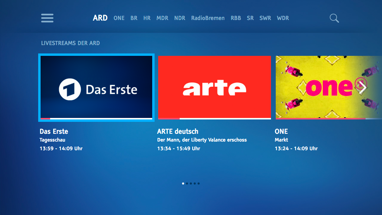ARD für TV Screenshot