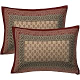 UNIBLISS Cotton 144 TC Pillow Cover, Standard, Maroon